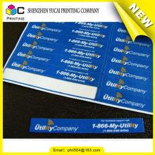 Preisgünstige Produkte Fabrik Direktverkauf benutzerdefinierte PVC-Label