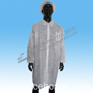 PP Nonwoven Lab Coats, Protective Laboratory Coat, Doctor Lab Coat