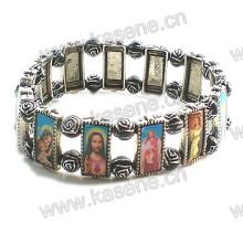 Metall Alloy Saints Rosenkranz Armband
