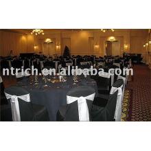 couverture de chaise de polyester 100 %, couverture de chaise de Banquet/hôtel