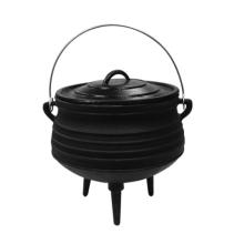 Cera terminou / pre-seaoned pote de ferro fundido potjie para o mercado da áfrica do sul