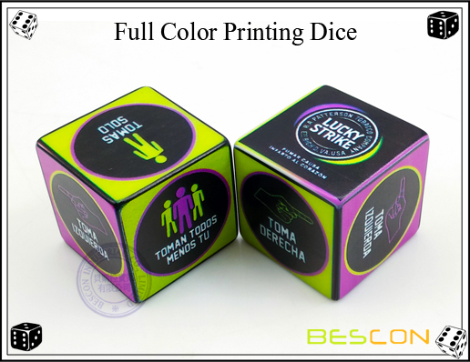 Full Color Printing Dice 30MM