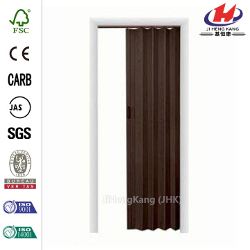 PVC Office Swing Half Black Interior Accordion Door