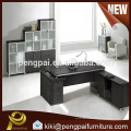 Melamine black office table with drawer