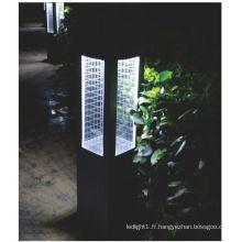 Lumière solaire à gazon à LED en acier inoxydable