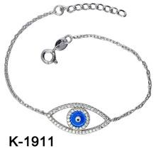Fashion Jewellery 925 Silver Zirconia Blue Eyes Bracelets.