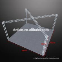 Pantalla de celosía de aluminio modular, estante de exhibición portátil al aire libre