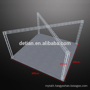 Modular aluminum truss display, portable outdoor display rack