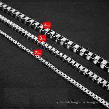 Fashion Jewelry Necklace Titanium Steel Chain Silver Color
