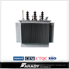 Transformateur de distribution de puissance de 100kVA / transformateur d'huile de 1250kVA
