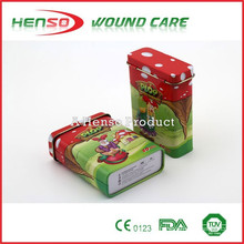 HENSO CE ISO Cartoon Band Aids With Tin Box