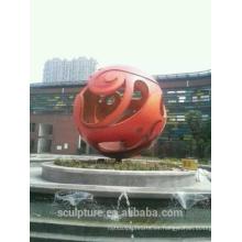 Shengfa acero inoxidable esfera hueco esculturas de venta de metal