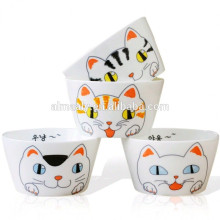 cartoon cat porcelain soup bowl