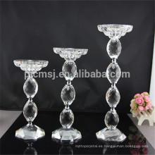 Pie de centro candelabros de cristal centros de mesa de boda