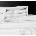 Bettdecke und Kissenbezug mit Stickerei Design Luxus Weiß Bettwäsche