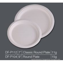 Round Plate Bagasse Plate Paper Pulp Biodegradable Plate, Party Cake Dessert Plate
