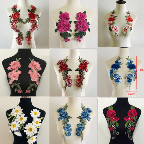 embroidery flower collar