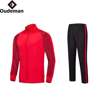 2017 OEM custom design Mens polyester tracksuit, track suit, sports suit