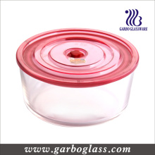 Glass Round Box, Round Bowl, Storage Bowl, Glass Container (GB13G15187)