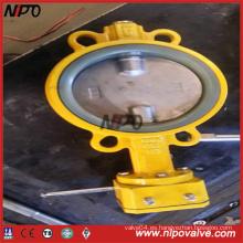 Operación manual Tipo Wafer Válvula de mariposa de sellado central