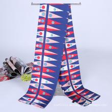 Lady Fashion Printed Satin Seide Magie Mutifunktional Cravat Schal (YKY1091-18)