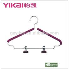 Cintres en métal rembourré en mousse simple EVA avec deux clips
