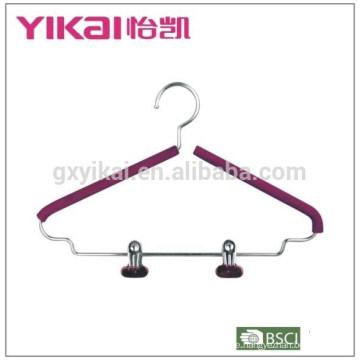 Einfache EVA-Schaum beschichtete gepolsterte Metall-Kleiderbügel mit zwei Clips