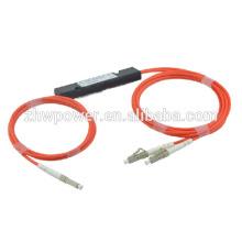 Fibra óptica plc splitter, LC MM plc divisor con mini tipo