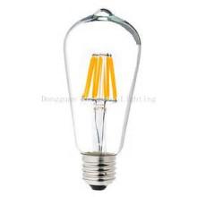 6 Вт st64 Лампа E27 тусклый Ясный обломок sanan СИД свет