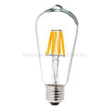 6W St64 E27 Dim Clear Sanan Chip LED luz