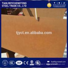 Plaque d'acier Corten Corten A / B Q295NH plaque de résistance aux intempéries
