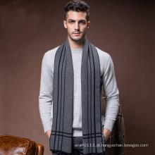 Moda masculina de lã de malha inverno lenço longo quente (yky4617)
