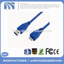 Novo USB 3.0 macho para micro B Cabo 1,8 m para unidade de disco rígido