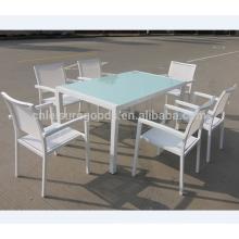 Aluminum glass dinning table
