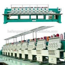 10 cabeças máquina de bordar de mesa com 9 agulhas, servo motor