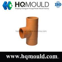 Injeção plástica Tee tubulação Industrial molde