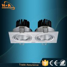 Luz de techo del panel LED de las cabezas dobles de COB 10W del proveedor de Guangzhou