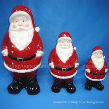 Керамическое рождественское украшение, статуэтка Санта-Клауса (домашнее украшение)