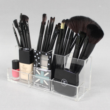 Kosongkan Acrylic Makeup Brush Holder Holder