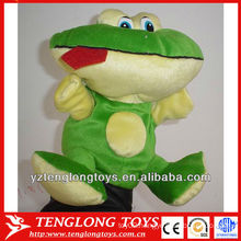 New type stuffed big mouse frog shaped plush hand puppets
