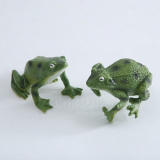 Set/2 Frog Sculpture/Statue for Desktop Decoration