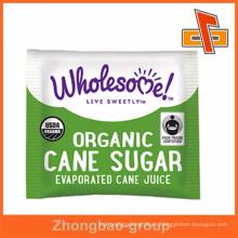 Hoja de aluminio de encargo de la orden pequeña bolso del embalaje del azúcar para la venta al por mayor orgánica del azúcar de caña