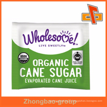 Custom order aluminium foil small sugar packing bag for organic cane sugar china wholesale