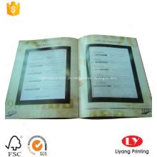 Cheap softcover empresa de impressão do catálogo de produtos