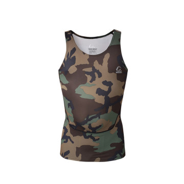 New style fashion custom compression gym wear vest for men