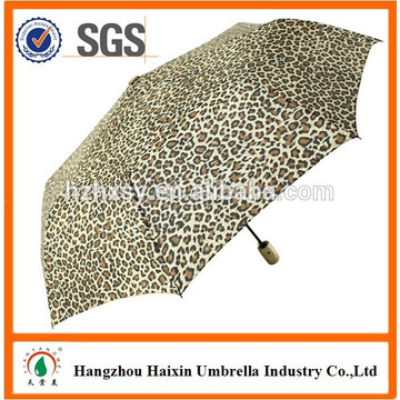 3 Folding Auto Open and Close Wind Resistant Umbrella Logo