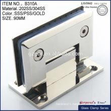 stainless steel tempered glass door hinge clamp