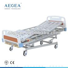 AG-BMS001 5-Função hospitalar manual al-liga handrails homecare bed
