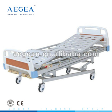 AG-BMS001 5-Function manual hospital medicare al-alloy handrails homecare bed