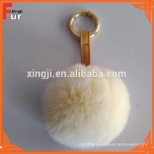 Китайский Производитель Высокое Качество Мех Кролика Пом Пом Брелок